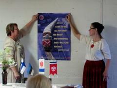 Saksasta saatiin juhlatervehdys
