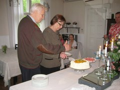 Juhlan päätteeksi saatiin kakkukahvit
