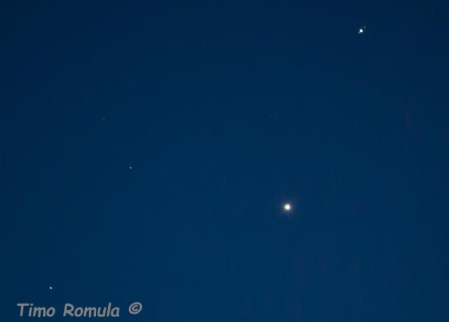 Mars, Venus ja Jupiter + kuut