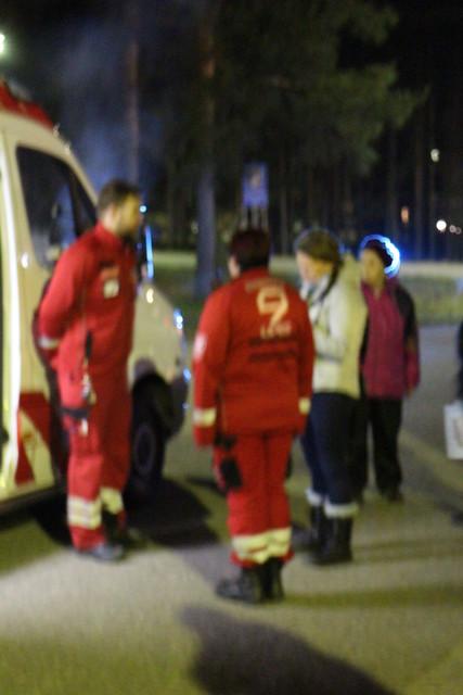 Ambulanssi vieraili myös...