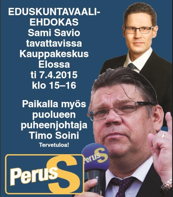 Timo Soini Ylöjärvellä 7.4. klo 15-16 | Sami Savio