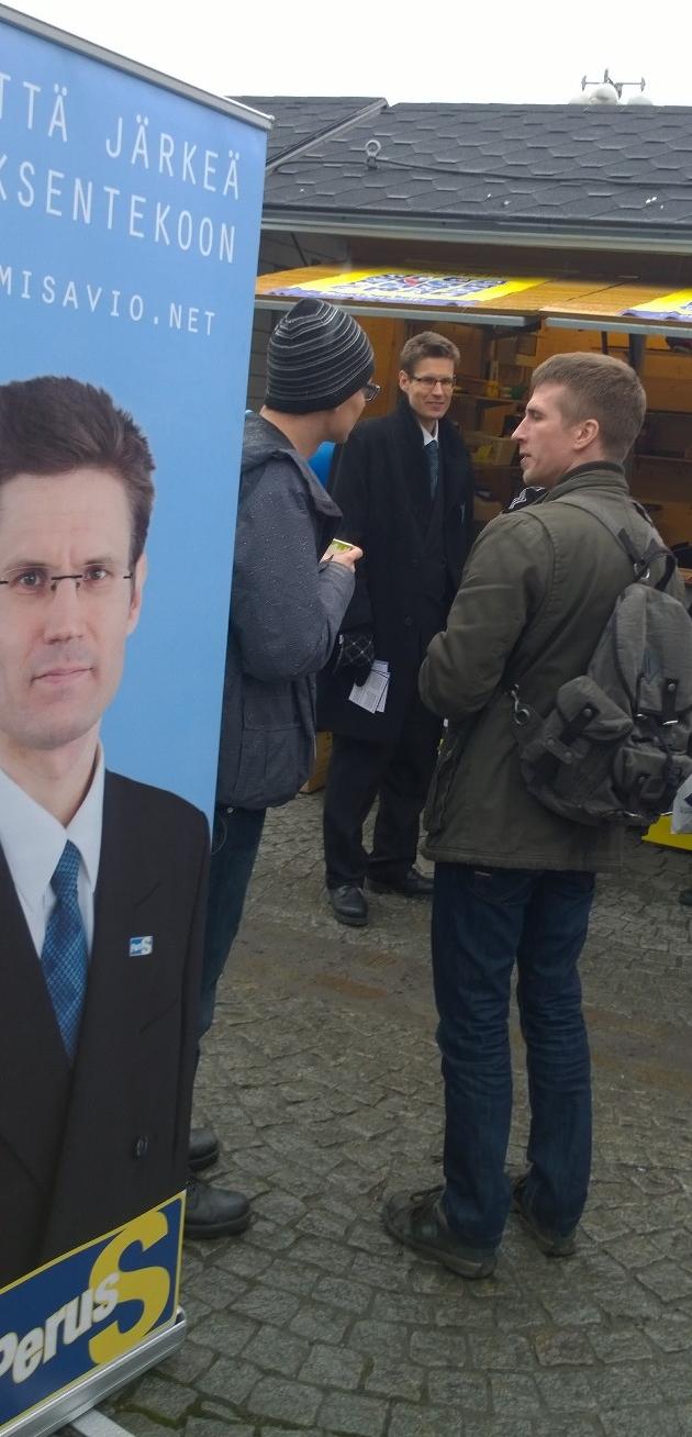 PS-vaalikopilla riitti tunnelmaa | Sami Savio
