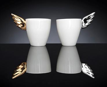 Platina- ja Kultasiipi | cappuccinomukeja | cappuccino mugs | 2,5 dl