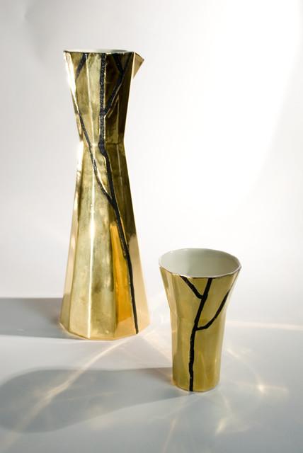 Kullatut Elämänpuukarahvi ja -pikari | Tree of life caraf and goblet