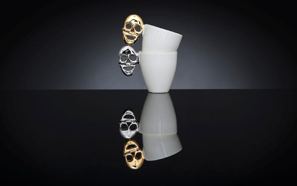 Kultakallo ja Platinakallo | Golden Skull and Platinum Skull | muki | mug