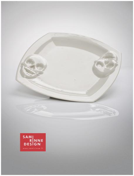 KALLO | lautanen | Skull | plate | halkaisija 19,0 cm