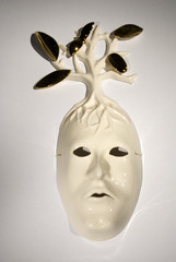 Keväinen Elämänpuuni | naamio | mask
