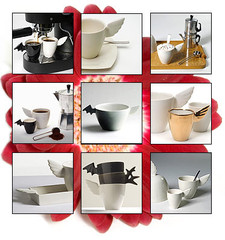 Enkeli- ja Lepakko | muki, espresso, cafe au lait, tarjotin | Angel and Bat | mug, espresso, au lait, tray |