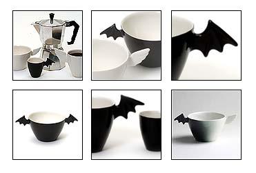 Lepakko | muki, espresso, cafe aulait | Bat | mug, espresso, cafe aulait
