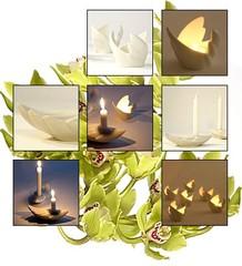 Siipi | tuikku ja kynttilänjalka | Wing | votive and candle stick