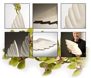 Siipi | maljakko ja -vati | Wing | vase and plate