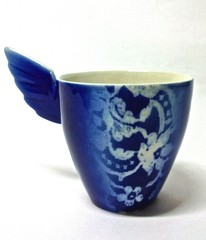 Sininen Pitsienkeli-muki | Blue Angel mug with lace