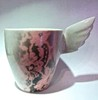 Pinkki Pitsi-muki | Pink Lace mug with a Wing