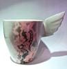 Pinkki Pitsi-muki | Pink Lace mug with a Wing