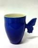 Korkea Sininen Perhonen-muki | Tall Blue Butterfly mug | Porcelain