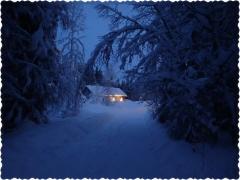 The way to Santa's Cabin