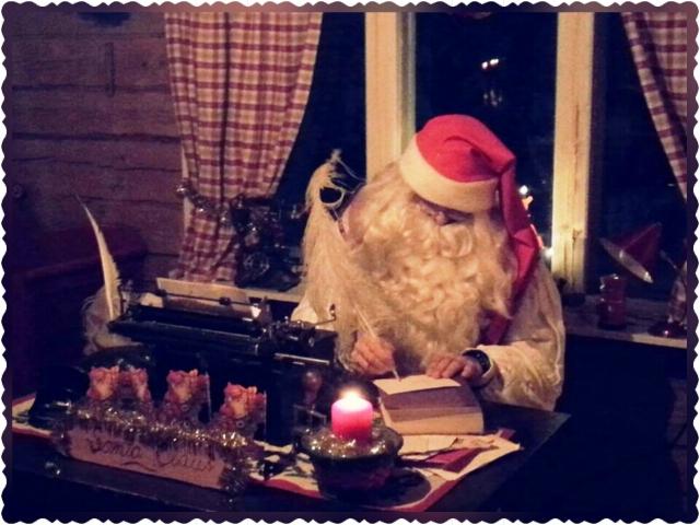 Santa is working