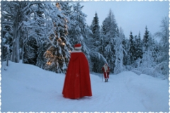 Mrs Santa is waiting for Santa Claus