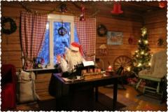 Santa Claus is working