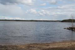 Ruukinrannan uimaranta toukokuun alussa