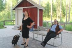 Aune ja bussikuski Hjalmar Gyllenhammar