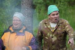 Kätilö Kerttu Koponen ja Nuohooja Väinö