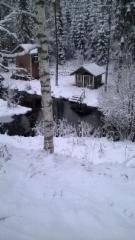 Jouluun hiljentynyt teatteriseutu ja Ryöpänjoki