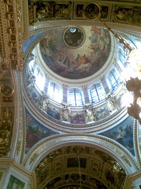 iisakin kirkon kupoli 100 metrin korkeudella