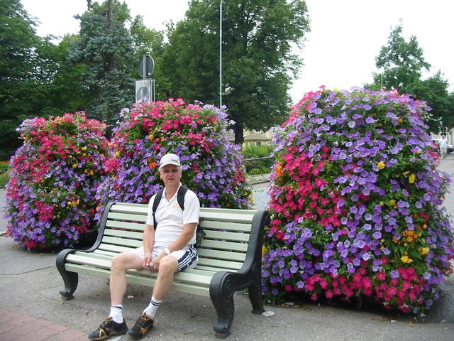 Kukkaloistoa kävelykadulla