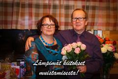 Vuoden 2013 karavaanarit kiittää mukavasta synttäriseurasta ja muistamisista! Teija ja Aimo