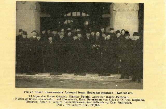 Kuntoutusmatka Tanskaan vuonna 1940.