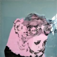 Sellaisina hetkinä, v. 2013, öljy akryylilevylle, 150 x 150cm, 2510€, Elina Ruohonen