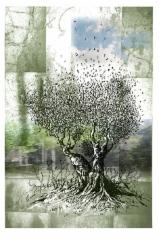 Hetki, mustesuihkuvedos, 40x30cm, sarja 1-45, vedos 230 €, kehystettynä (50x40cm) 330 €, v. 2011, Johanna Pohjavirta & Tuomo Rosenlund