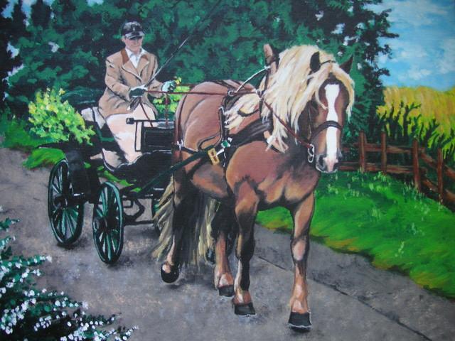 Hevonen ja rattaat
