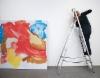 Sirpa Häkli, näyttelyä rakentamassa | Installing exhibition | Galleria G, 2019 (b)