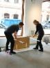 Sirpa Häkli, näyttelyä rakentamassa | Installing exhibition | Galleria G, 2019 (d)