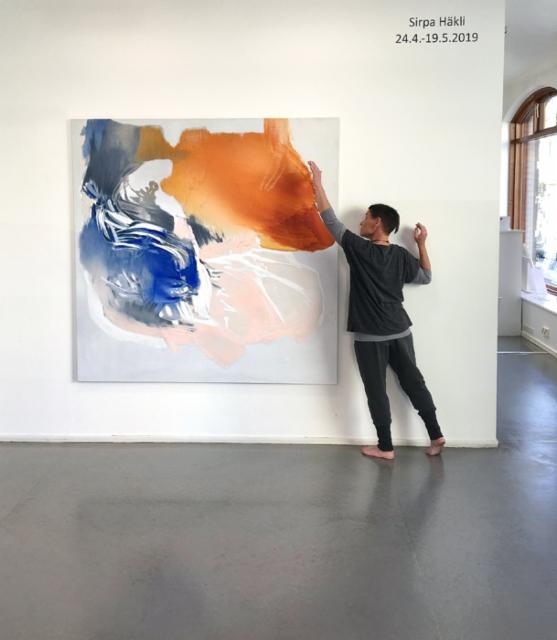 Sirpa Häkli, taiteilijatapaaminen & performanssi, Galleria G | Meet-the-Artist and Performance, Gallery G, 2019 (a)
