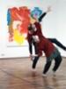 Sirpa Häklin taiteilijatapaaminen ja Kivi&Nosto -kollektiivin performanssi Teijon Masuunin galleriassa (1)