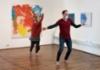 Sirpa Häklin taiteilijatapaaminen ja Kivi&Nosto -kollektiivin performanssi Teijon Masuunin galleriassa (2)