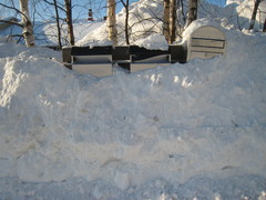 Postilaatikot talvella