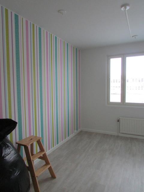 Tyttären huone alkaa muotoutua entisen keittiön paikalle.