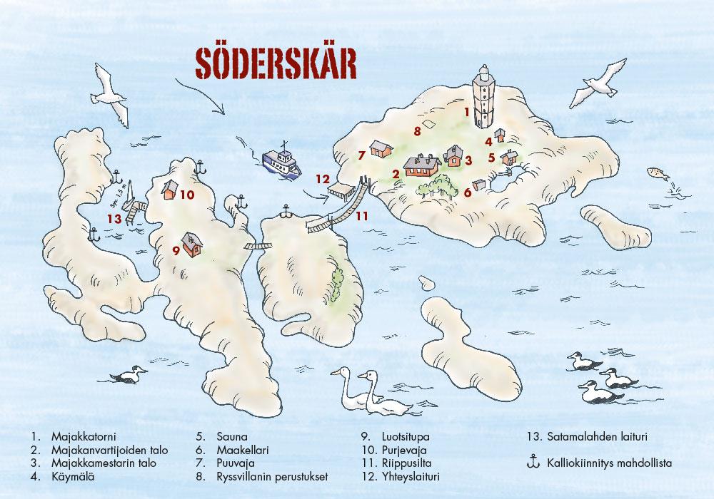 Kartta Soderskar Majakka