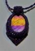 violet_macrame_sormeilutekniikka_stone_25mm