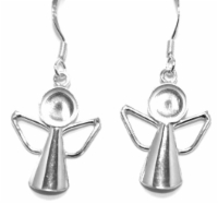 Silver setting - Earrings