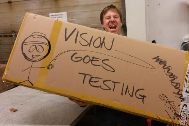 Vision goes testing