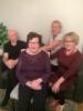 serkkuni Elma Sievänen os. Hämäläinen lastensa Juhan, Merjan ja Ullan kanssa.
