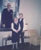 Airi Kantanen: olen työpaikassa virallisessa työn kuvassa v 1985 Kari Halmeen kanssa hotelli Presidentin aulassa