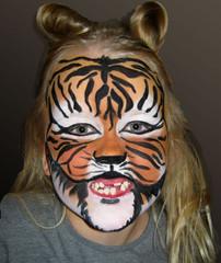 tiikeri-kasvomaalaus
