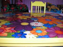 Kukkapöytä valmiina