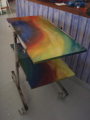 Sivupöytä valmiina